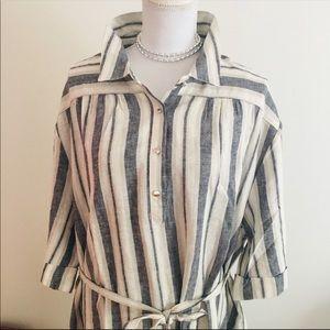 Ellen Orton new with tags 3x left linen tank dress
